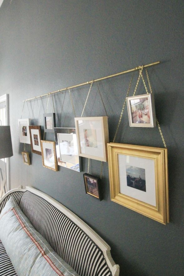 Hanging art on a picture rail - Hanging pictures on walls ...
