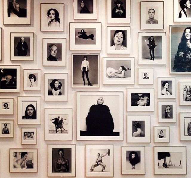 1 - black and white portrait wall