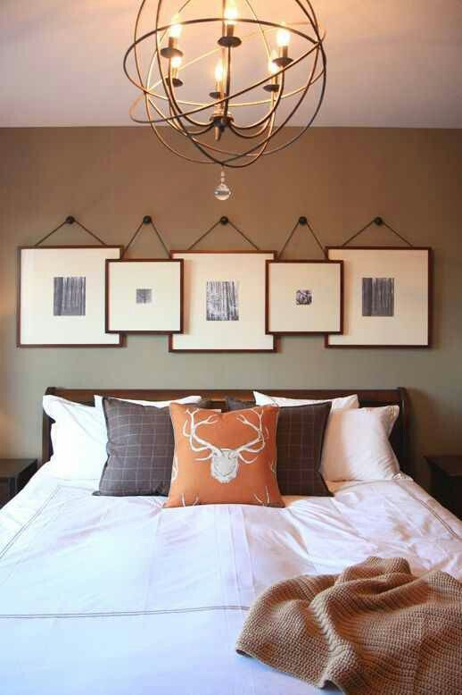 5-gallery wall above bed - kim allen